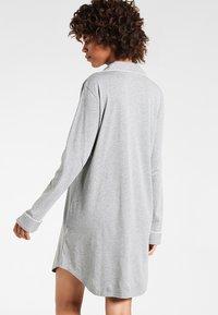 Lauren Ralph Lauren - HAMMOND CLASSIC NOTCH COLLAR SLEEPSHIRT - Nightie - heather grey - 2