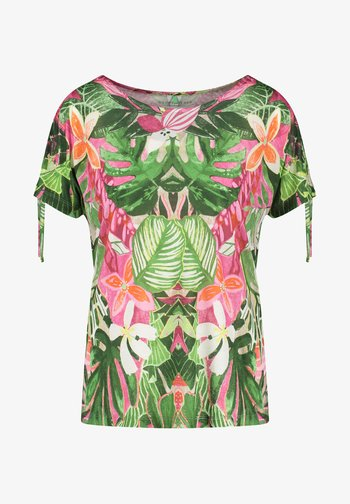T-shirt con stampa - violet/pink/green