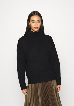 BASIC-TURTLE NECK OVERSIZED - Neule - black