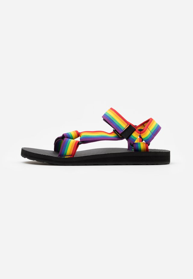 ORIGINAL UNIVERSAL - Walking sandals - rainbow/black
