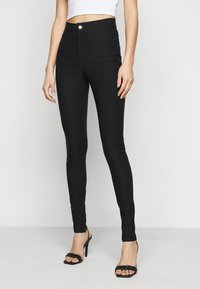 Noisy May Tall - NMSOLINE SOLID PANTS  - Kalhoty - black - 0