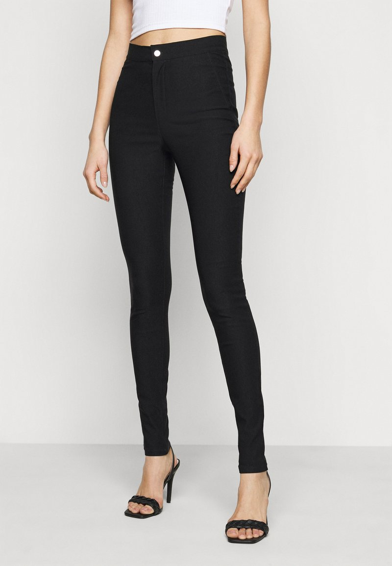 Noisy May Tall - NMSOLINE SOLID PANTS  - Kalhoty - black