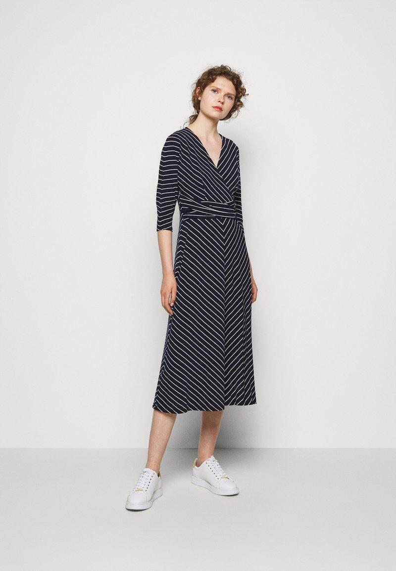 Lauren Ralph Lauren - MATTE DRESS - Jersey dress - navy/colonial