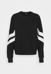 OVERSIZED STRIPE SLEEVE SWEATSHIRT - Sweatshirt - black/white