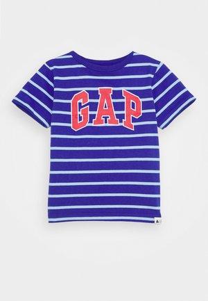 TODDLER BOY LOGO STRIPE - Print T-shirt - powerful blue