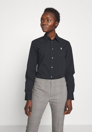 GEORGIA - Button-down blouse - black
