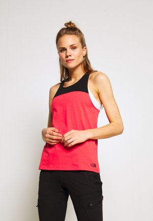 WOMENS NORTH DOME TANK - Topper - cayenne red/black