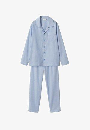 GESTREEPTE LANGE - Pyjamas - hemelsblauw