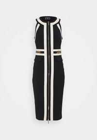 Elisabetta Franchi - Shift dress - nero/burro - 0
