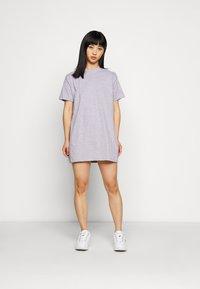 Missguided Petite - BASIC DRESS 2 PACK - Sukienka z dżerseju - grey marl - 0