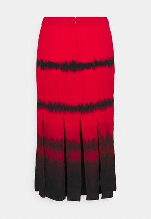 SLIT SKIRT - A-line skirt - red