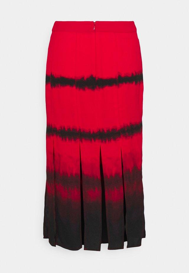 SLIT SKIRT - Áčková sukně - red