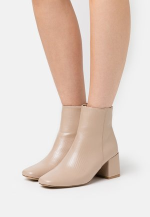 BYRON ROUND TOE MID BLOCK - Boots à talons - oatmeal