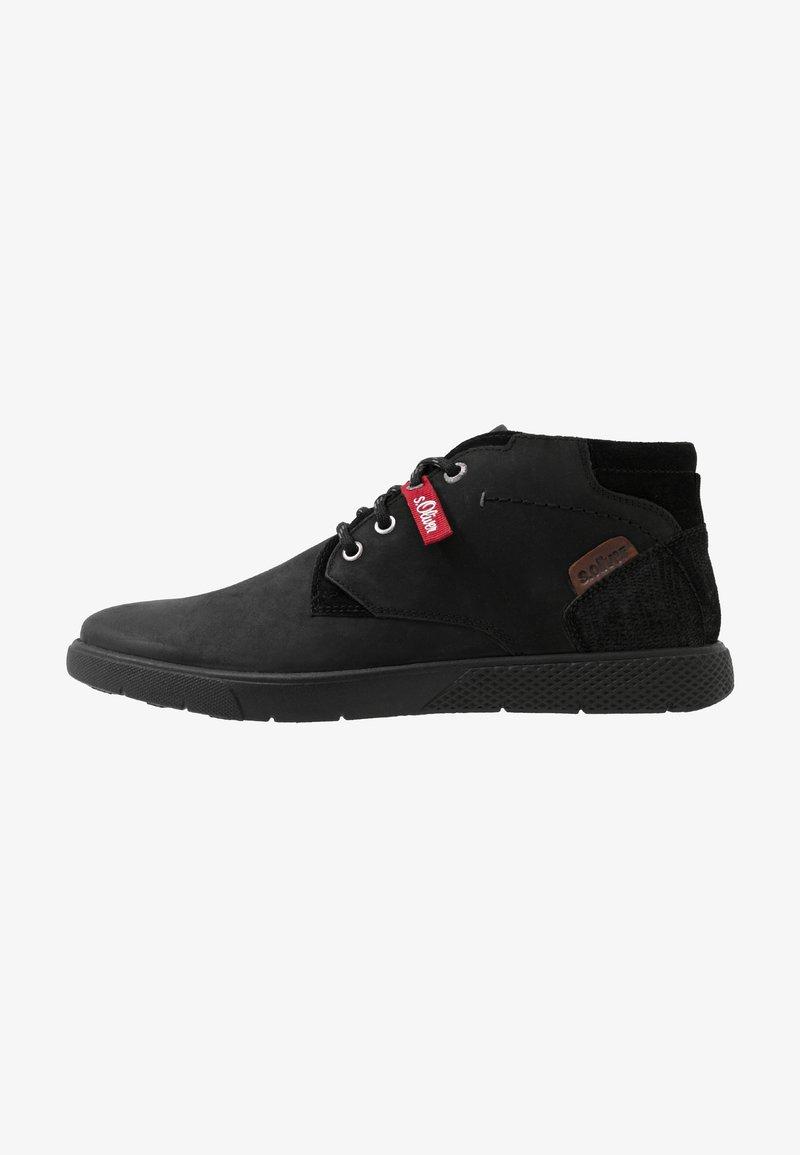 s.Oliver - Sznurowane obuwie sportowe - black