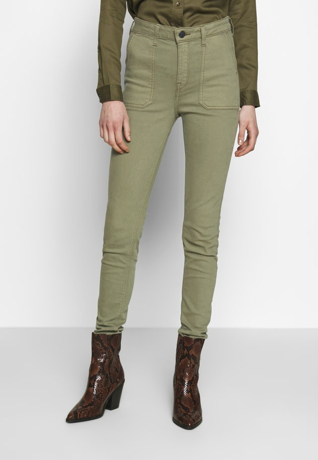 SCARLETT HIGH - Jeansy Skinny Fit - agave green