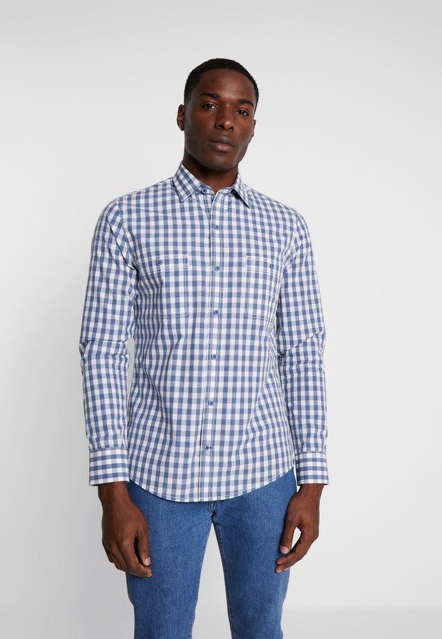 WASHED GINGHAM SHIRT RELAXED CLASSICS FIT - Chemise - cadet navy