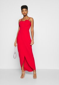 WAL G. - PANEL DETAIL LONG DRESS - Gallakjole - red - 1