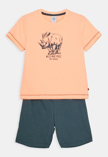 MINI SHORT SET - Pyjamas - neon melon