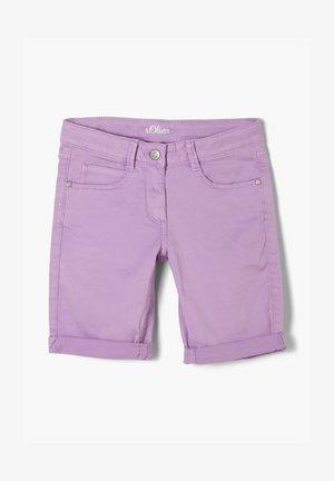 Denim shorts - violet