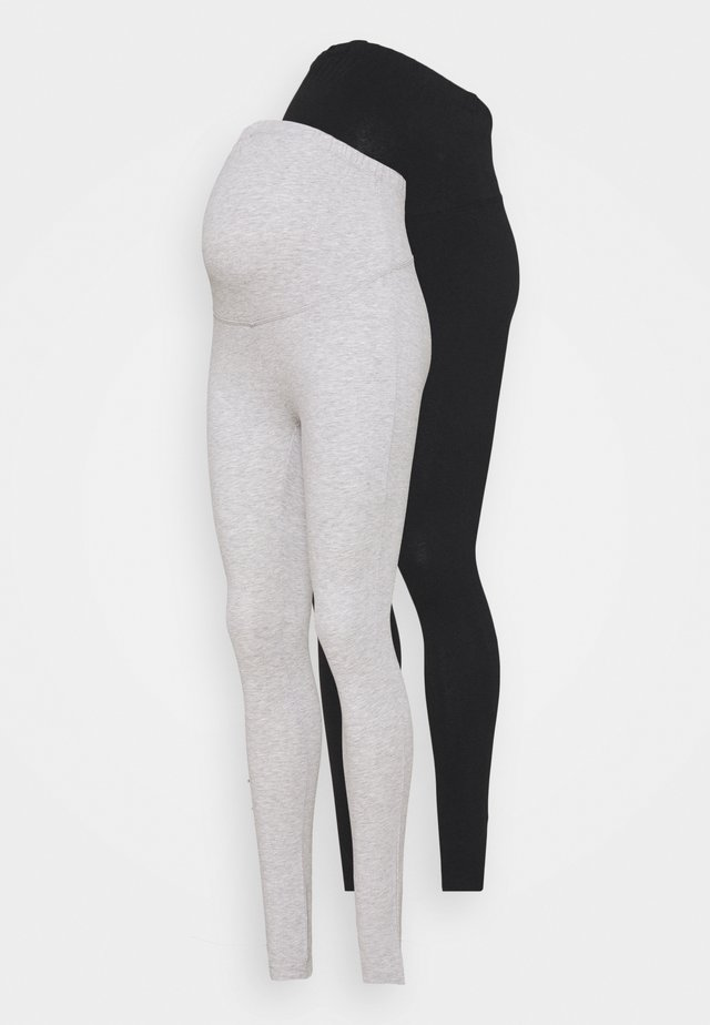 2 PACK - Legging - black/light grey