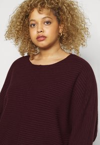 New Look Curves - EXPOSED SEAM CASH BAWTING - Jumper - dark burgundy - 4