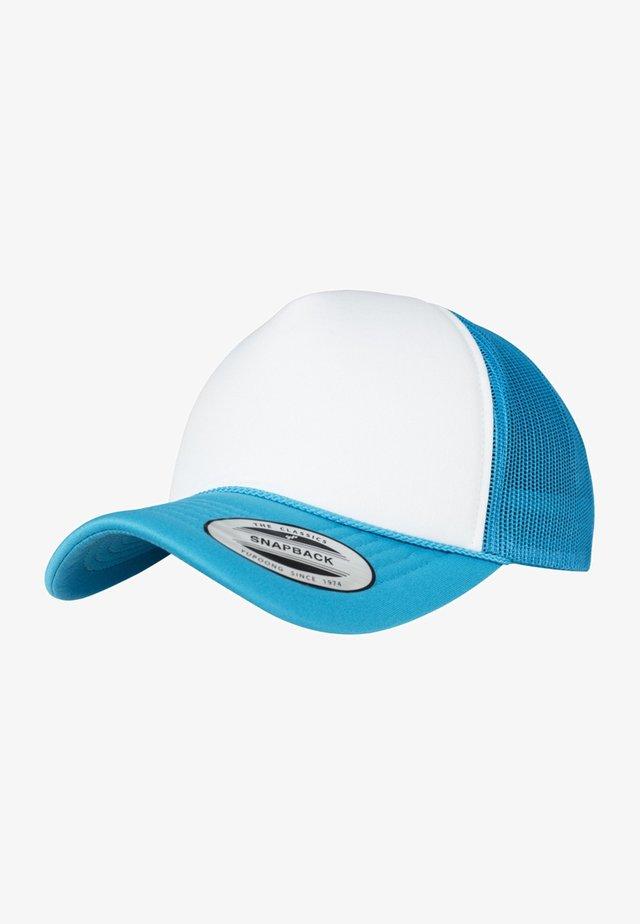 Kšiltovka - turquoise/ white