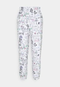 NEW girl ORDER - SCRIBBLE JOGGER - Tracksuit bottoms - white - 0