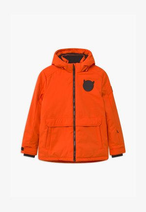 SUSTAINABLE PLAIN UNISEX - Snowboard jacket - neon orange
