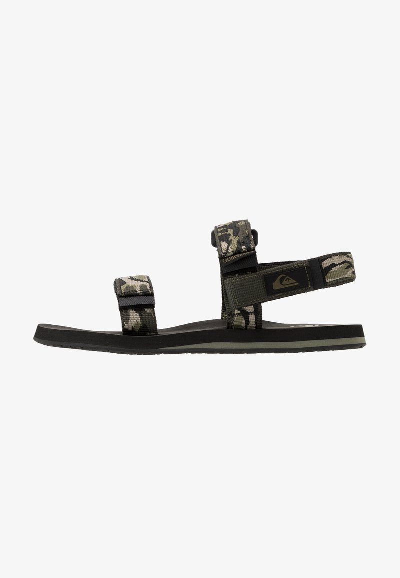 Quiksilver - MONKEY CAGED - Sandals - green/black