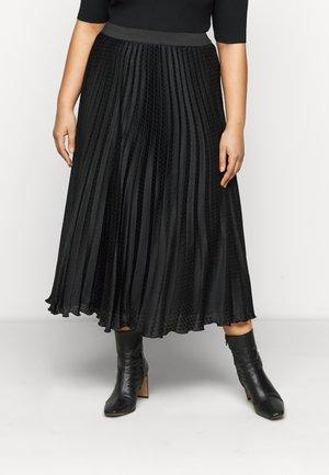 CARDINE - Plisovaná sukně - black