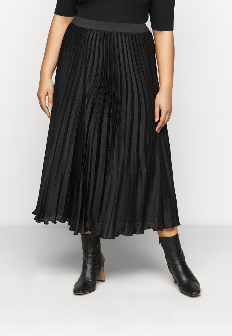 Persona by Marina Rinaldi - CARDINE - Pleated skirt - black
