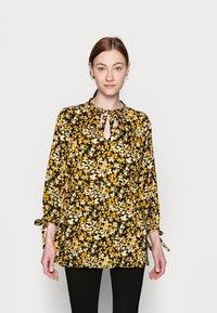 Dorothy Perkins Tall - SPOT SMOCK WOVEN - Tuniek - yellow/black - 0