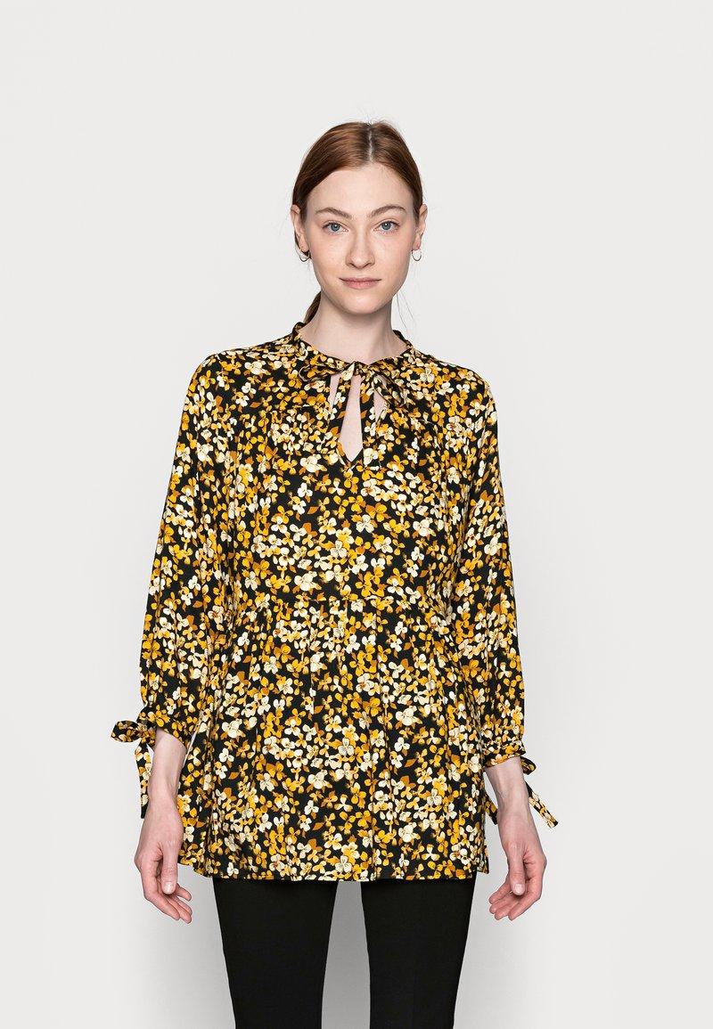 Dorothy Perkins Tall - SPOT SMOCK WOVEN - Tuniek - yellow/black