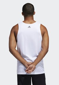 adidas Performance - SPORT 3 STRIPES TANK - Camiseta de deporte - white - 1