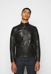 Belstaff - WEYBRIDGE JACKET - Kožená bunda - black - 0
