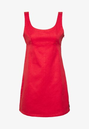 ROMY - Denim dress - flame red