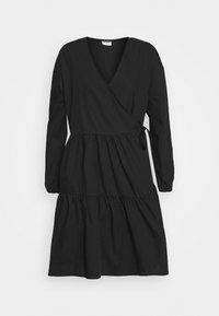 NMPINAR WRAP POPLIN DRESS - Day dress - black