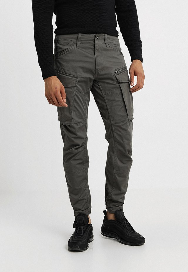 ROVIC ZIP 3D STRAIGHT TAPERED - Cargo trousers - grey