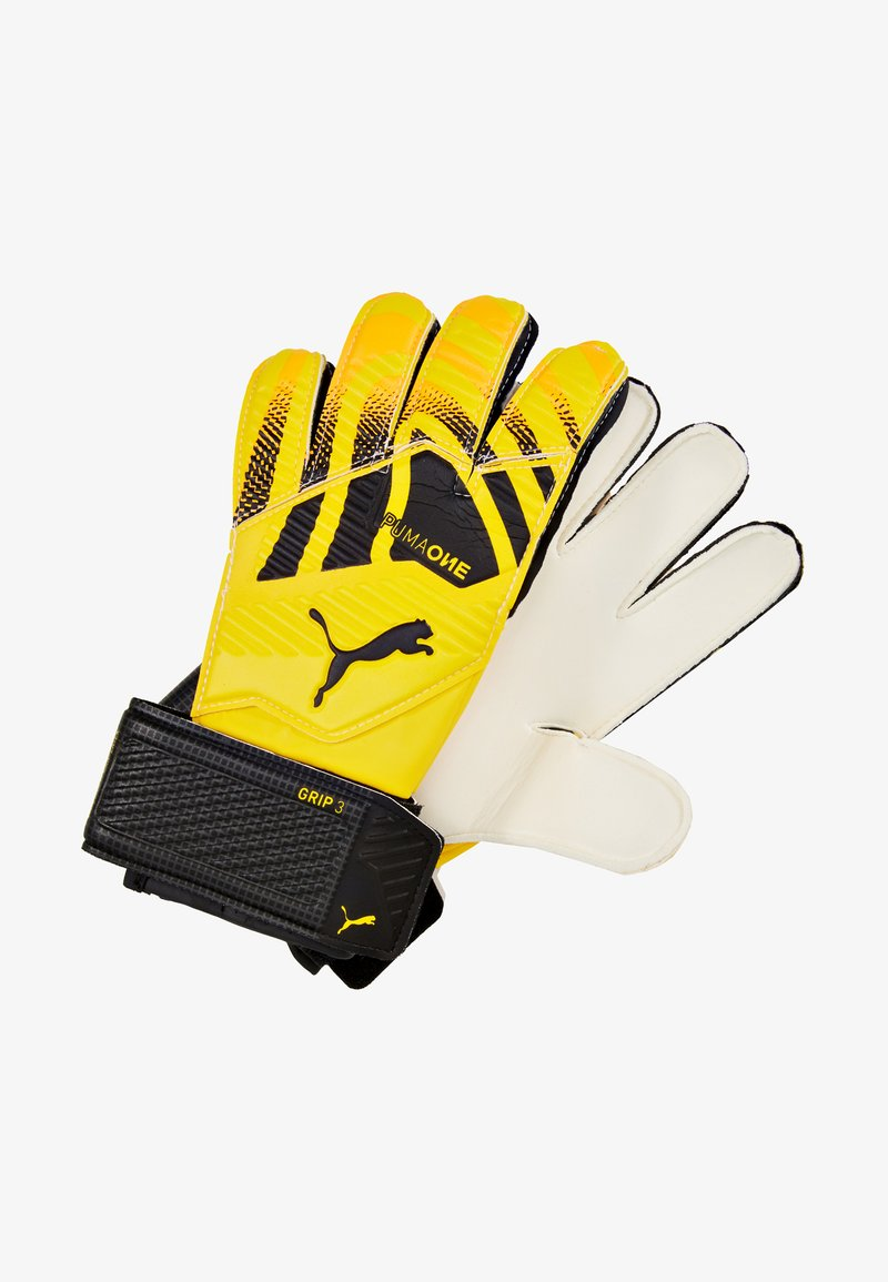 Puma - ONE GRIP - Goalkeeping gloves - ultra yellow/black/white