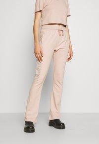 adidas Originals - OPEN HEM  - Tracksuit bottoms - beige - 0