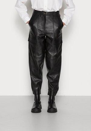 PALMA PANTS - Skinnbukser - black