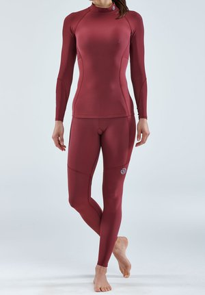 THERMAL - Funktionsshirt - burgundy