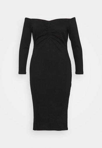 WAY STRETCH BARDOT BODYCON DRESS WITH TUMMY PANEL - Cocktail dress / Party dress - black