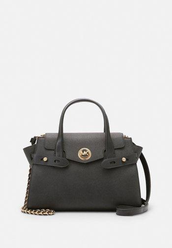 CARMENLG FLAP SATCHEL - Handbag - black