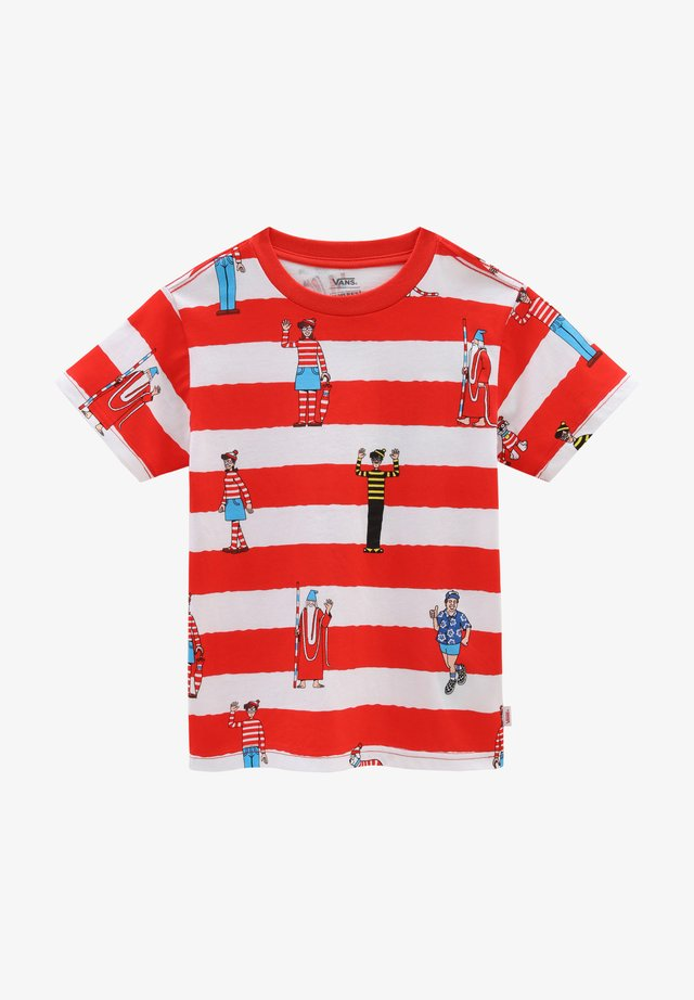 BY VANS X WHERE'S WALDO STRIPE KIDS - T-shirt imprimé - red