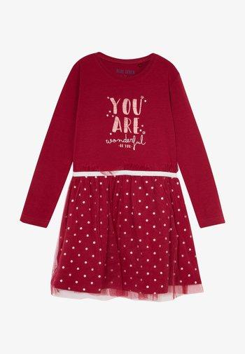 KIDS TULLE DRESS - Jerseyklänning - bordeaux orig