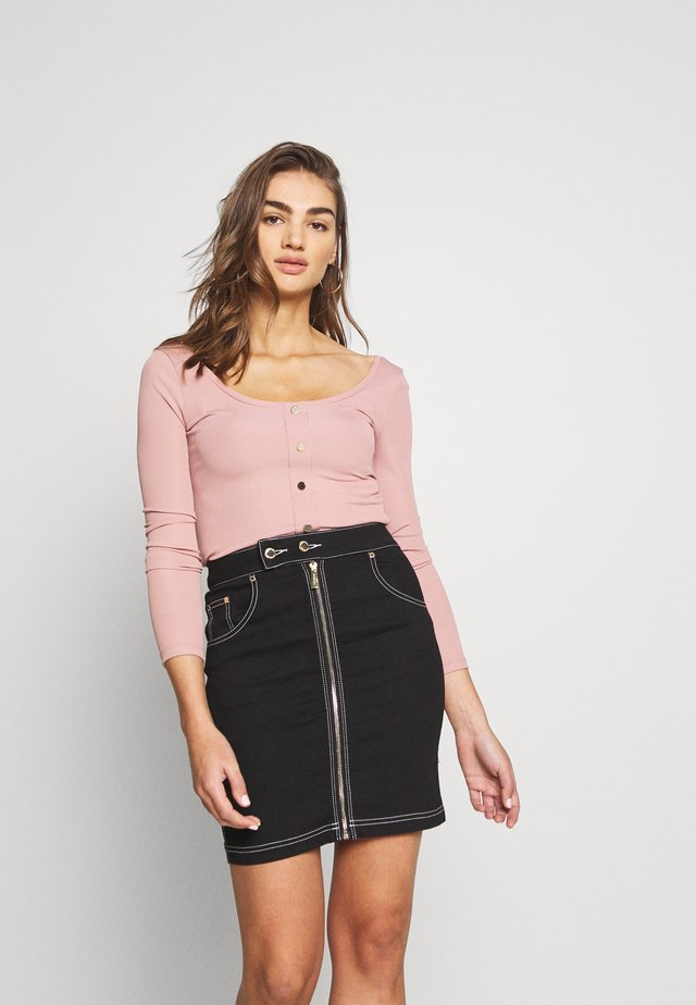 SCOOP NECK - Long sleeved top - dusty rose