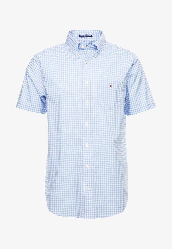 GANT BROADCLOTH GINGHAM SLIM - Koszula - capri blue/jasnoniebieski Odzież Męska JPDR