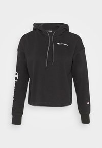 Champion - HOODED CROP LEGACY - Mikina s kapucí - black - 5