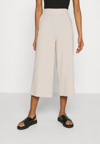 Object - OBJCECILIE NEW CULOTTE PANTS  - Tracksuit bottoms - sandshell - 0